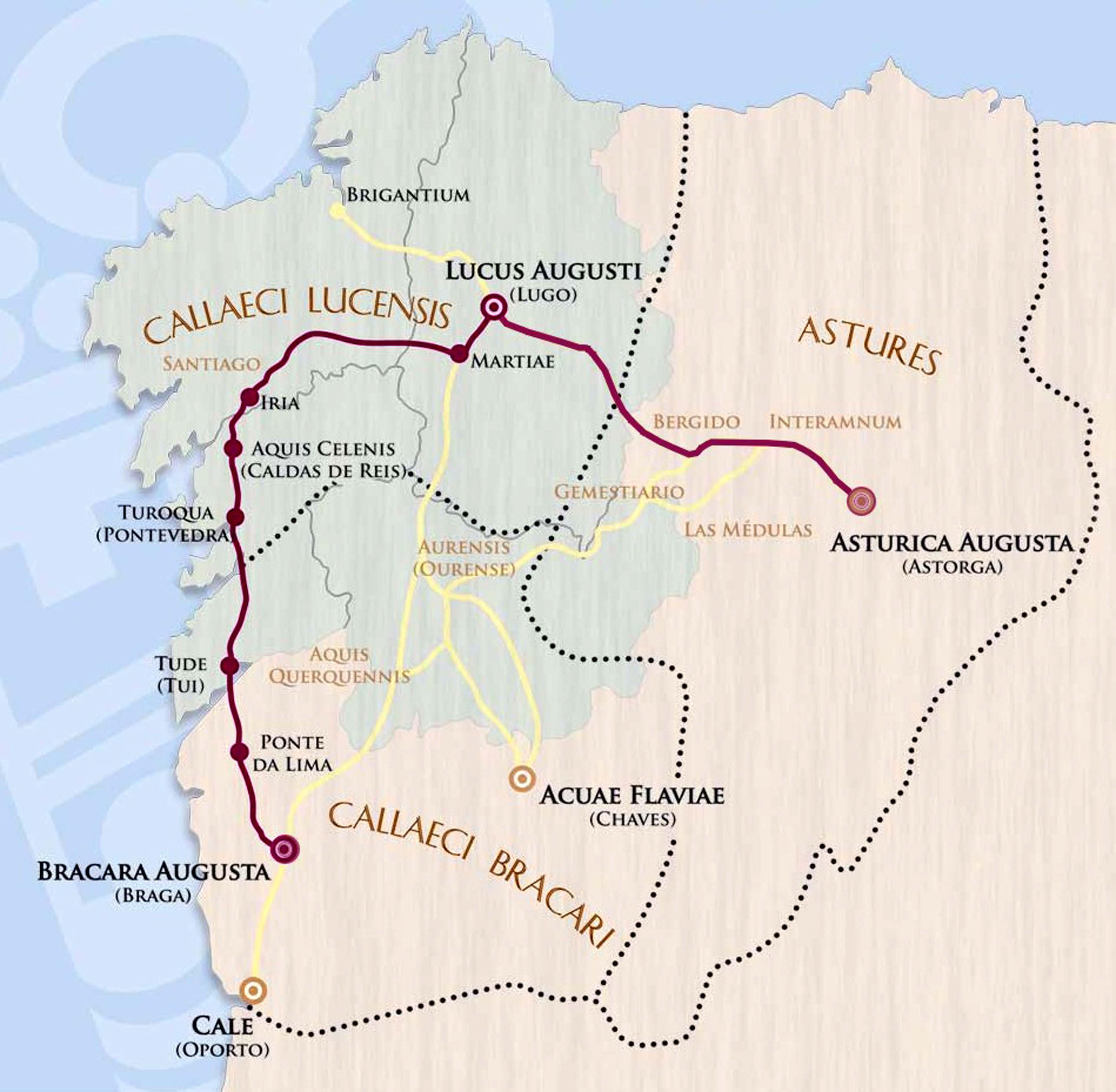 mapa de la Vía XIX